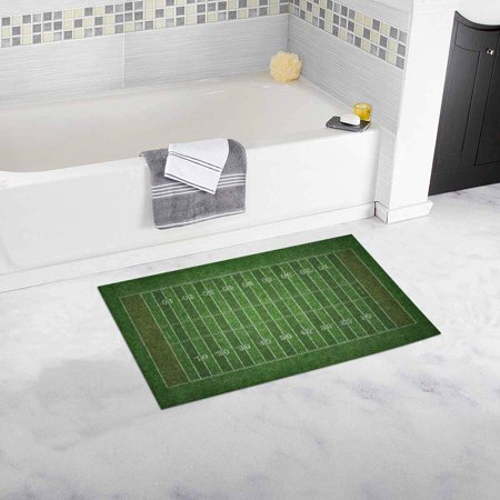 CADecor American Football Field Bath Rug Doormat Floor Rug 30x18 inches