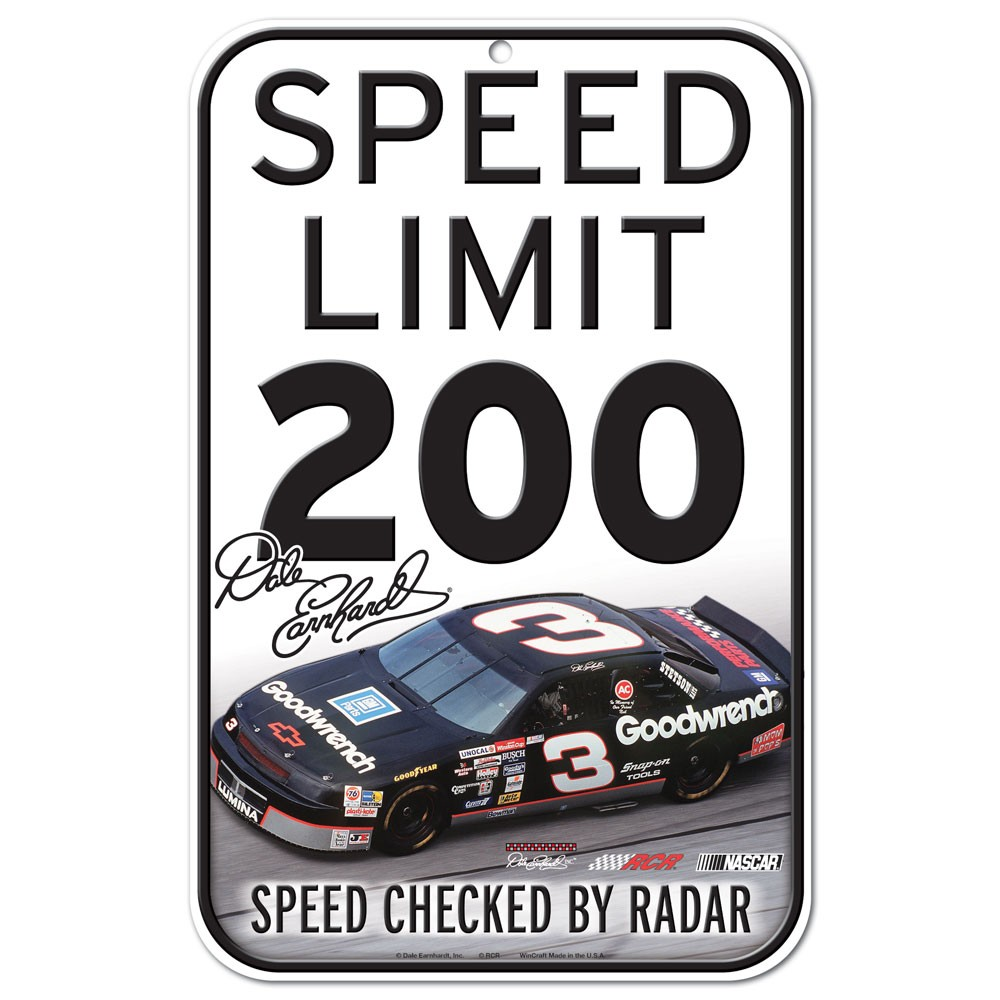 Dale Earnhardt Official NASCAR 11 inch x 17 inch  Sign by Wincraft