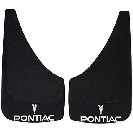 Mustang Splash Guards (Highland 1028700 Black Pontiac Logo Molded Splash Guard - 2 Piece )