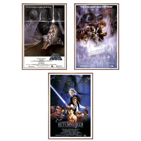 Star Wars Episode IV, V & VI - Framed 3 Piece Movie Poster / Print ...