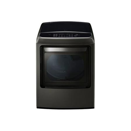 LG SteamDryer DLGY1902KE - Dryer - freestanding - Wi-Fi - width: 27 in - depth: 28.9 in - height: 45.4 in - front loading - 7.3 cu. ft - black stainless