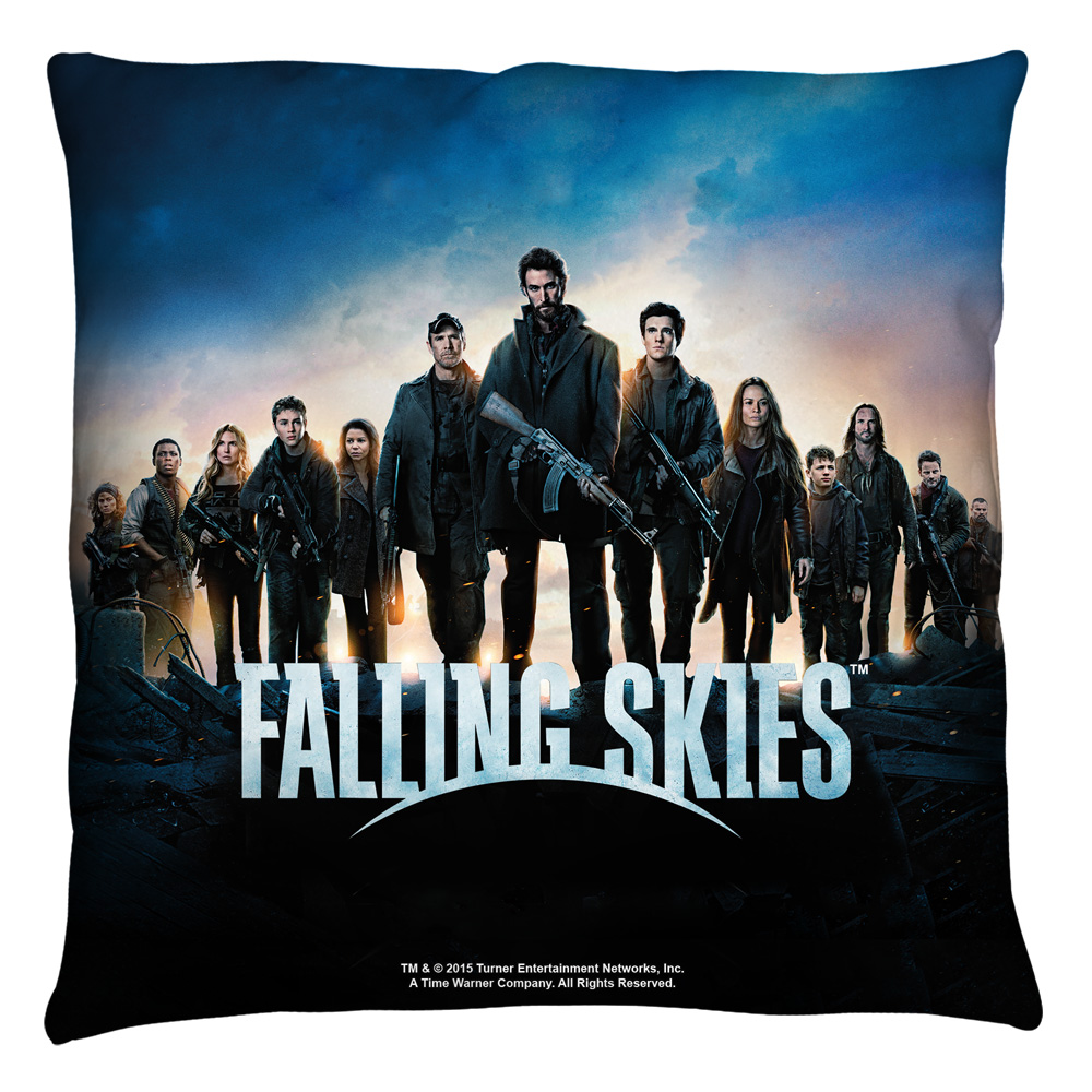 Falling Skies Poster Throw Pillow White 14X14