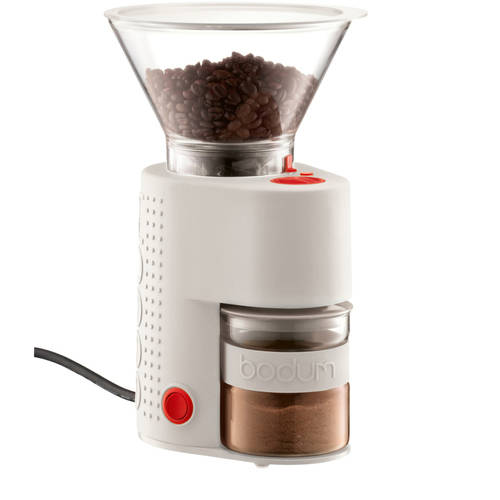 Bodum BISTRO Burr Grinder, Electronic Coffee Grinder, Red