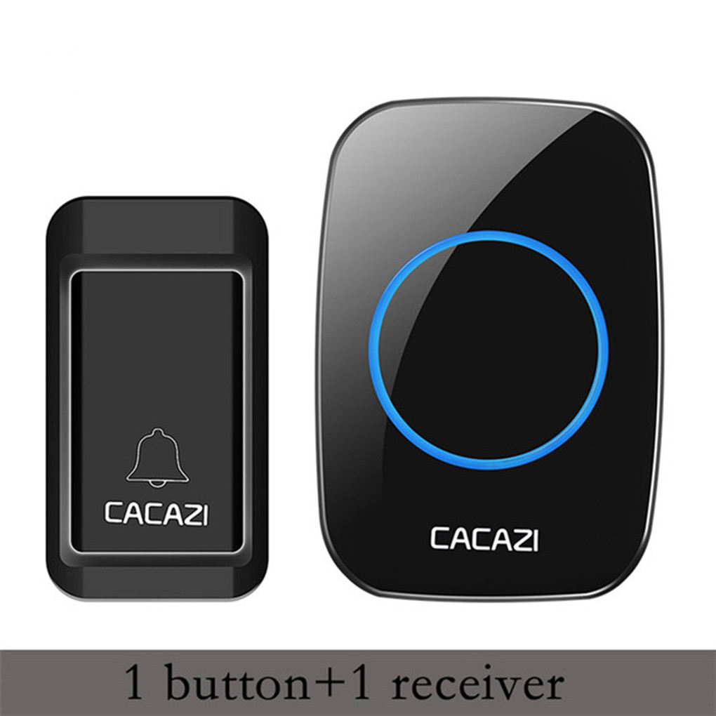 Wireless Doorbell Smart Remote Door Bell Chime Battery Self-powered Transmitter Doorbell
