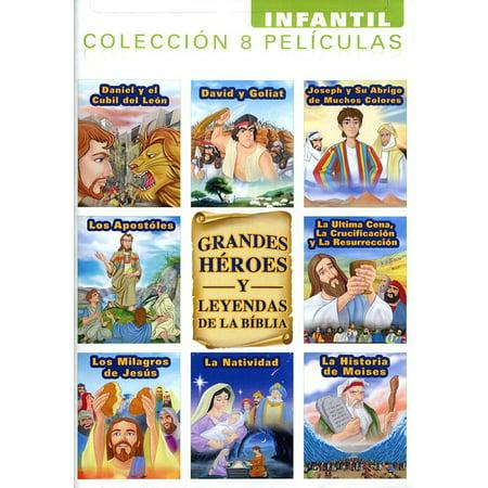 Grandes Heroes Y Leyendas De La Biblia DVD Infantil Coleccion 8 Peliculas 2-disc](Halloween Pelicula De Terror)