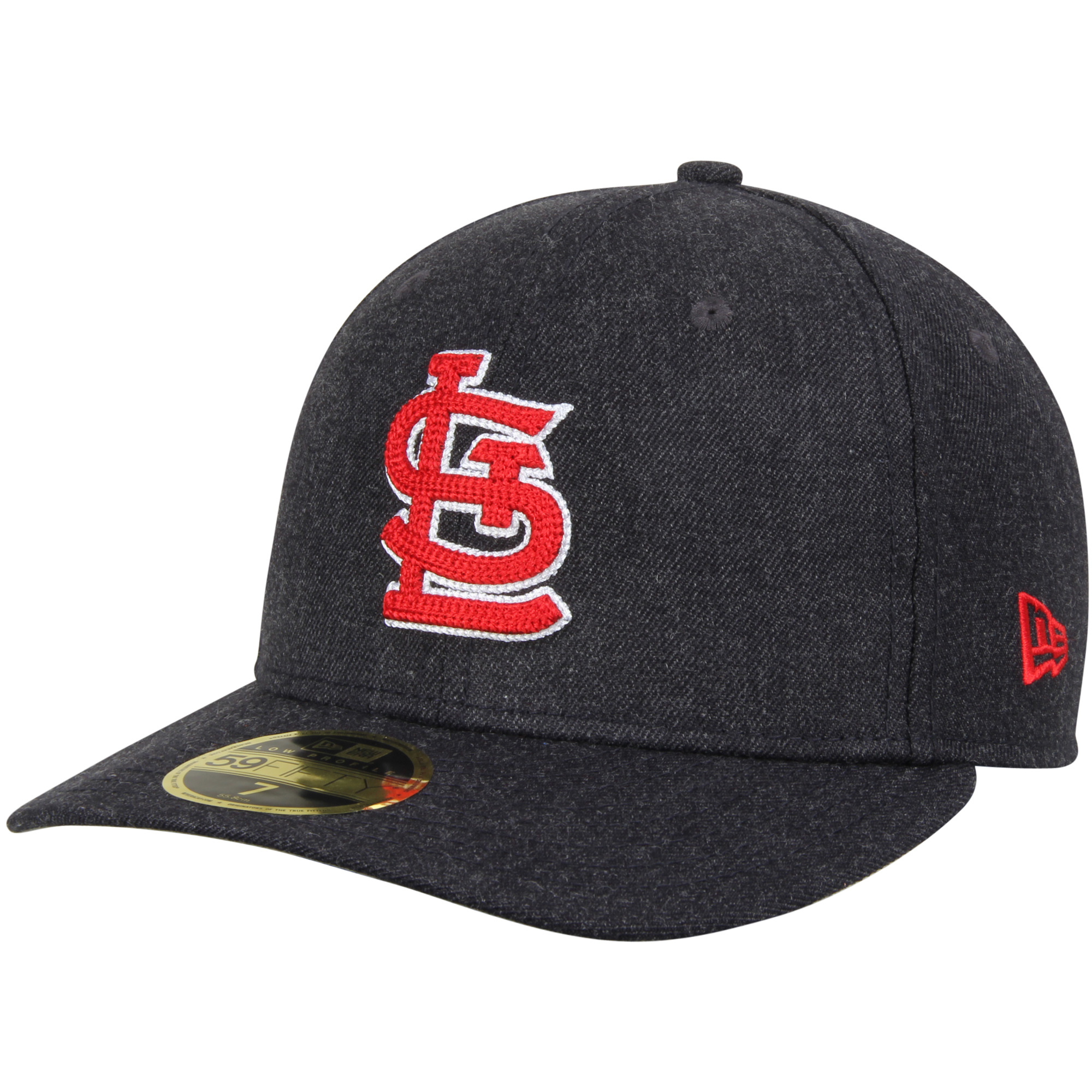 St. Louis Cardinals New Era Crisp Low Profile 59FIFTY Fitted Hat - Heathered Navy