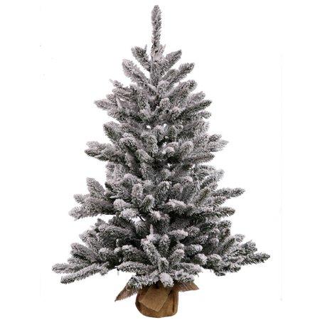 Vickerman Christmas Trees.Vickerman 36 Flocked Anoka Pine Artificial Christmas Tree With 100 Clear Lights
