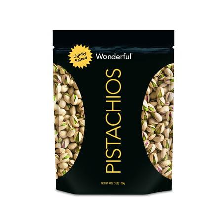 Wonderful Pistachios, Roasted & Lightly Salted, 48