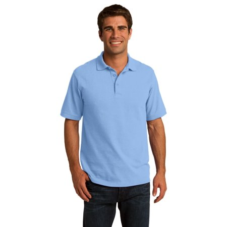 Port   Company Mens Kp155 Knit Shirt 50 50 Pique Polo