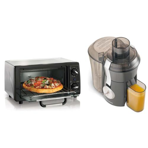 Hamilton Beach 4-Slice Stainless Steel Toaster Oven w/1 HP Juicer Bundle