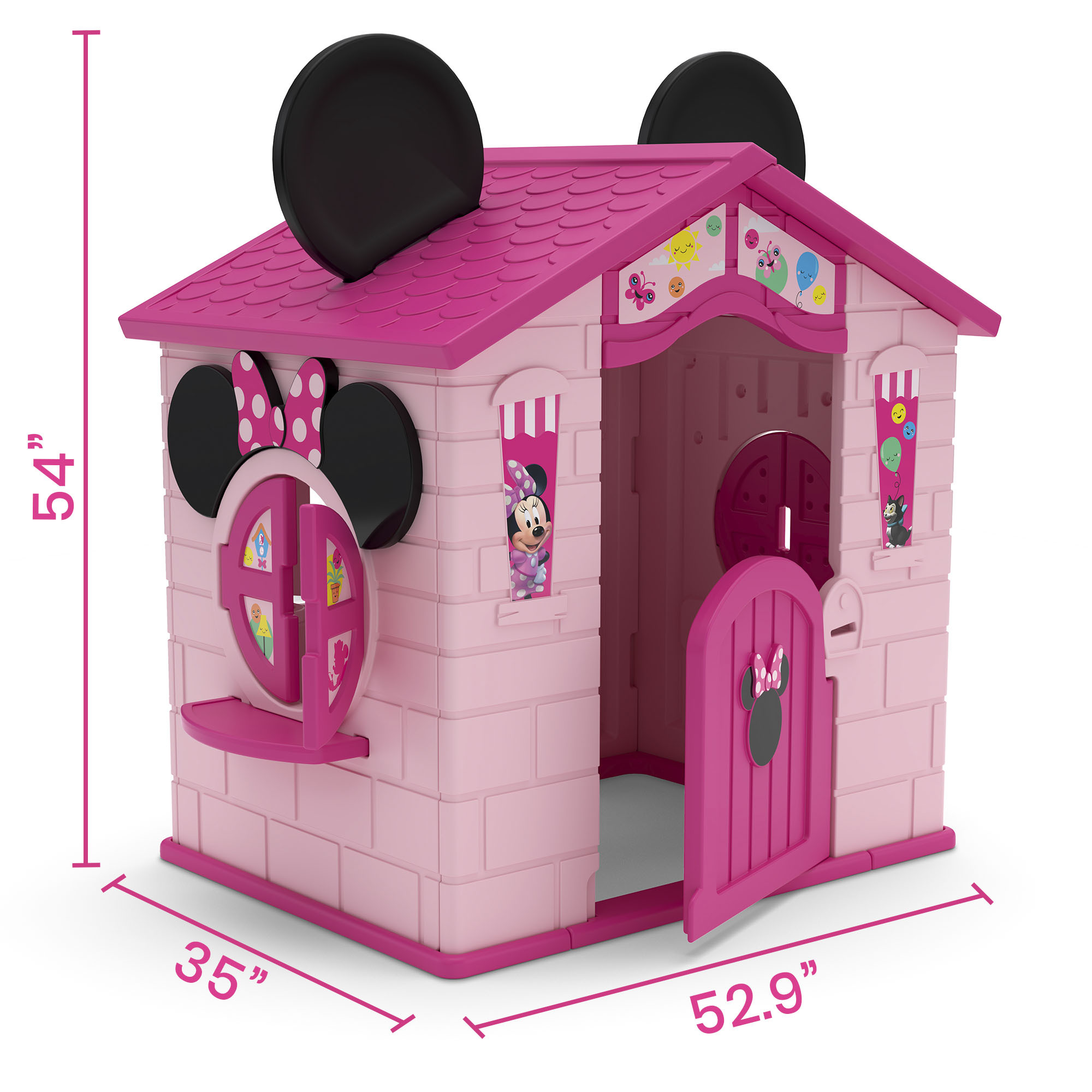 Disney Minnie Mouse Plastic Indoor Outdoor Playhouse With Easy Assembly By Delta Children Walmart Com Walmart Com