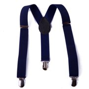 HDE Toddlers Suspenders Solid Color Adjustable Elastic Y Back with Metal Clips