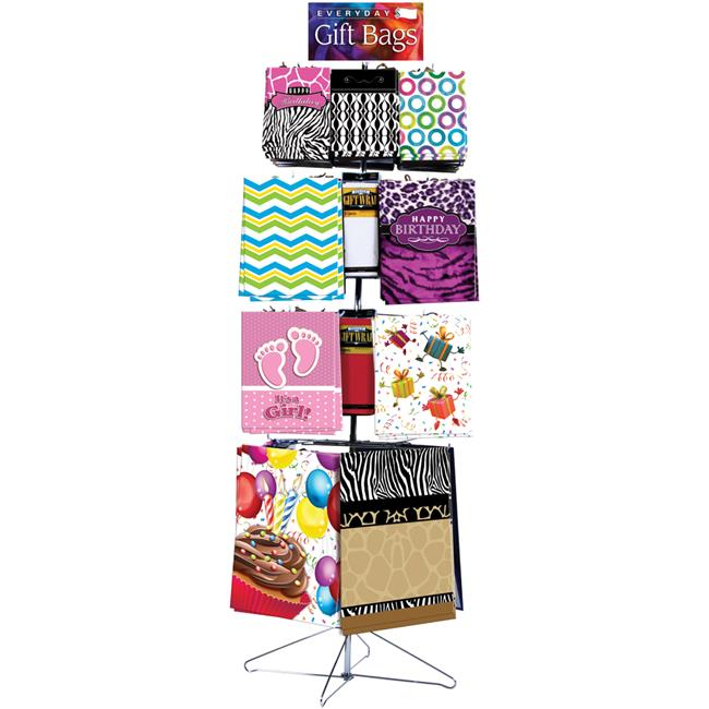 DDI 2133173 Everyday Gift Bags & Tissue Floor Display, As...