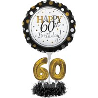60th Birthday Balloon Centerpiece