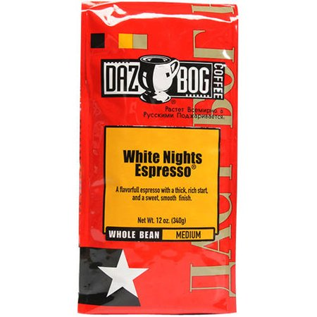 DAZBOG Coffee White Nights Espresso Whole Bean Coffee, 12 oz