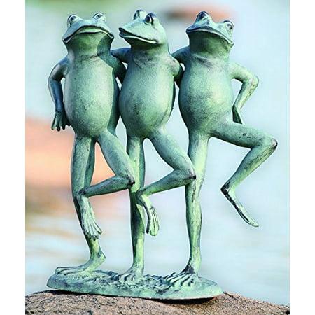 Frog Pond Short (Ebros Aluminum Best Pond Buddies Hand In Hand Dancing Frog Trio Garden Statue 19