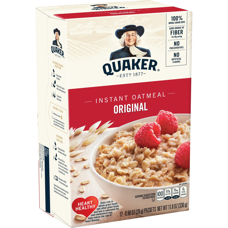 Quaker Instant Oatmeal, Original, 12