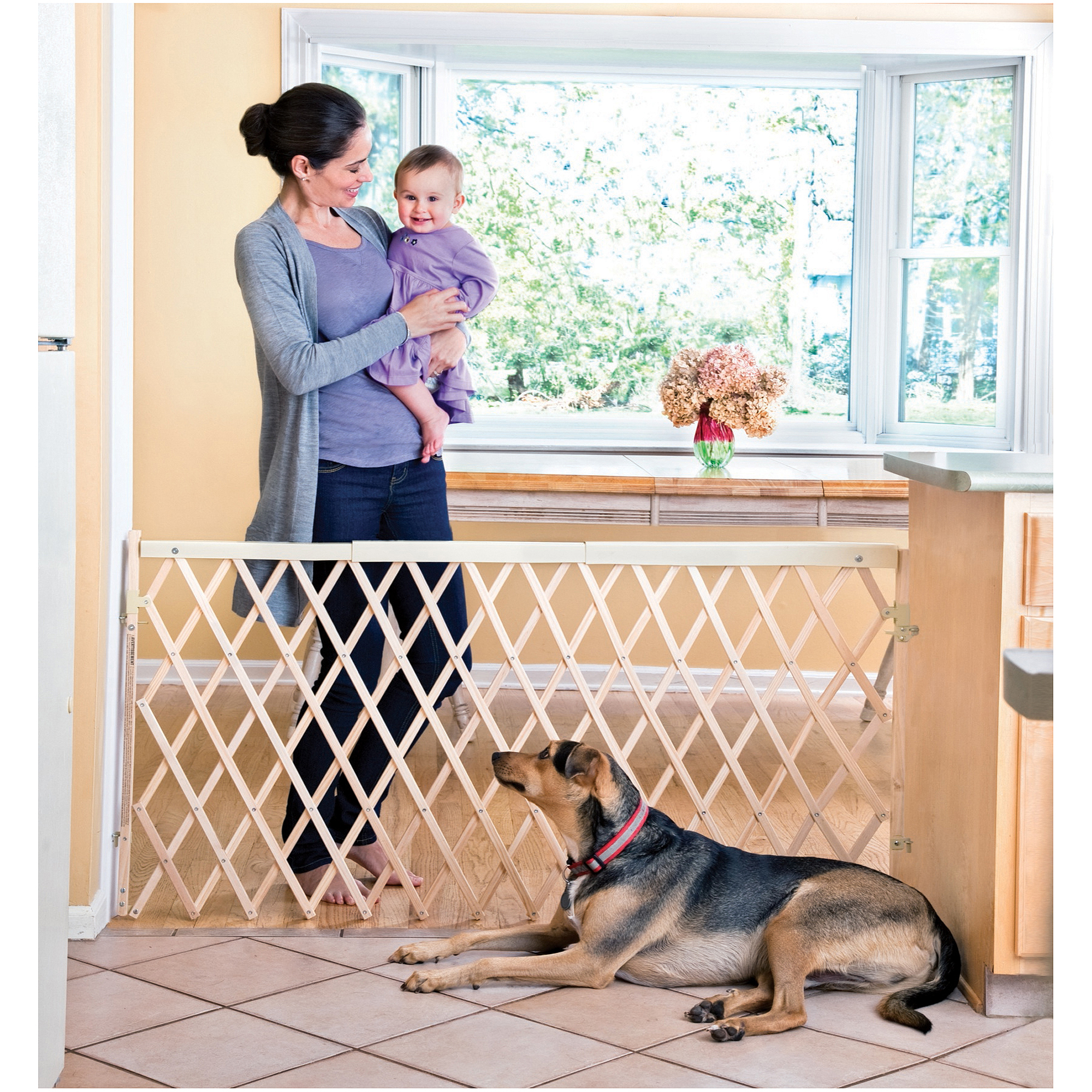 "Evenflo Expansion Baby Gate, 24""-60"" with Swing Door, Extra Wide"