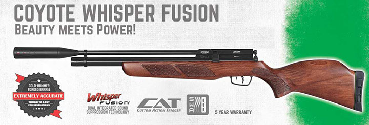Gamo Coyote Whisper Fusion 1464S54 Air Rifles .177 - by Gamo
