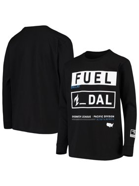 Dallas Fuel Youth Overwatch League Double Down Long Sleeve T-Shirt - Black