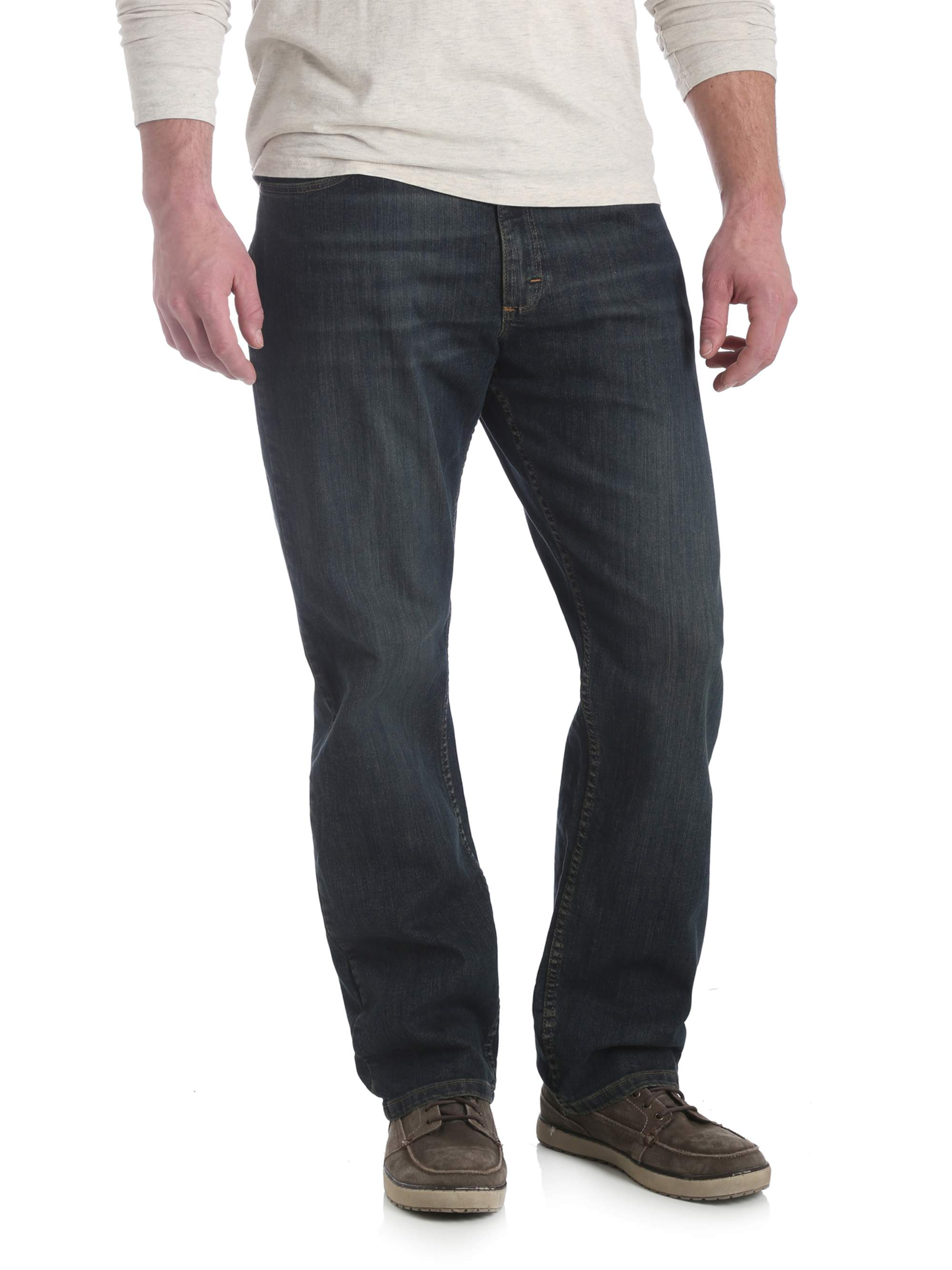 5712fb16 Wrangler - Wrangler Men's 5 Star Straight Fit Jean with Flex - Walmart.com