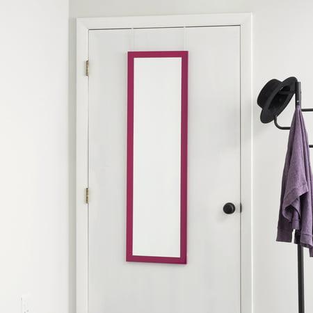 Over The Door Mirror, Pink