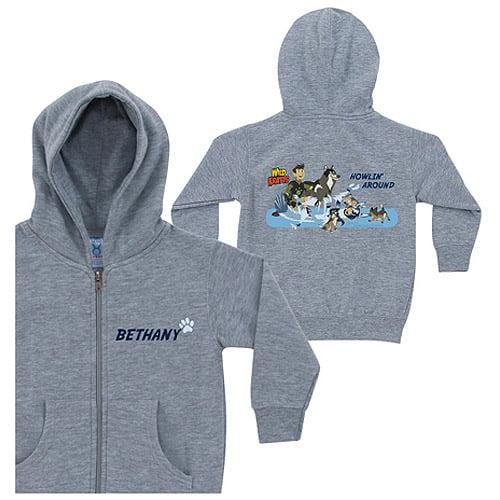 Personalized Wild Kratts Howlin' Around Toddler Boy Gray Zip-Up Hoodie