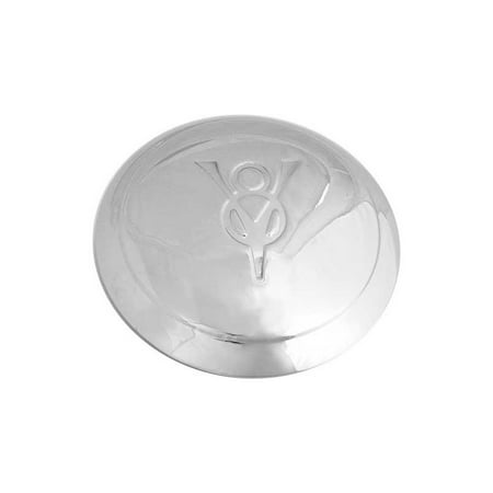 Auto Hub - MACs Auto Parts Premier  Products 47-14601 Hub Cap - V8 Embossed - Stainless Steel - 5-3/4 - Ford Pickup Truck