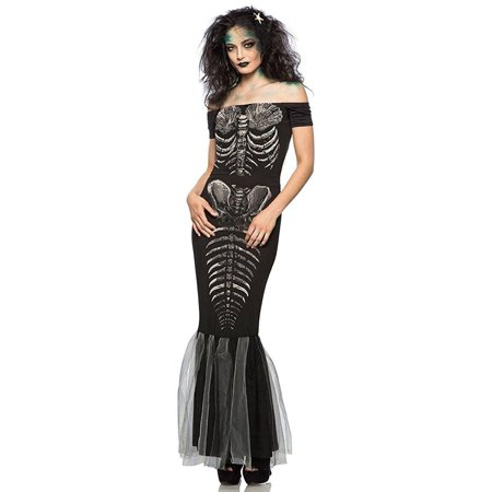 Womens Skeleton Mermaid Dress Costume](Mermaid Costume Womens)