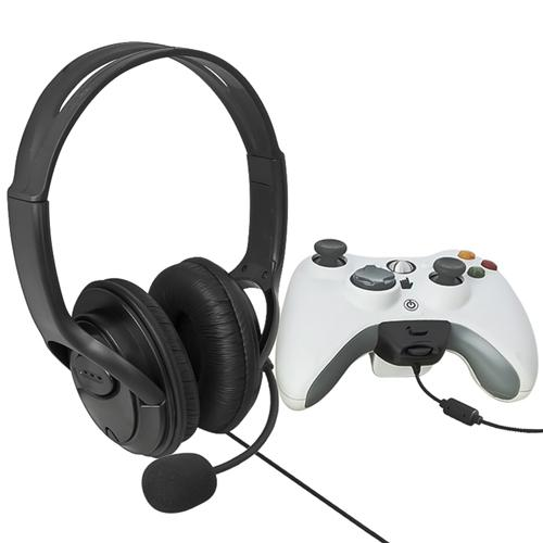 Insten Gaming Headset with Microphone For MicroSoft xBox 360, Black (Live Chat Mic)