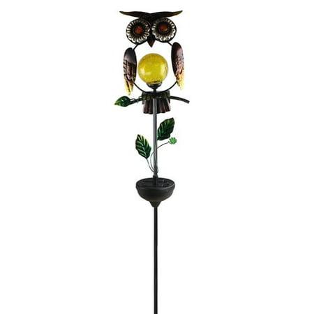 Owl Solar Garden Light - Moonrays Solar Powered LED Owl Light Garden Stake