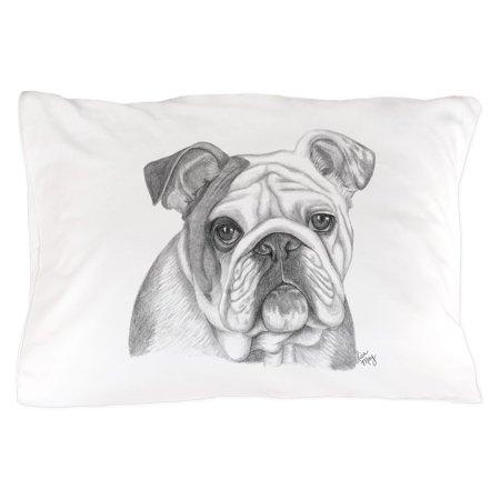 Bulldog Toss Pillow - CafePress - English Bulldog - Standard Size Pillow Case, 20