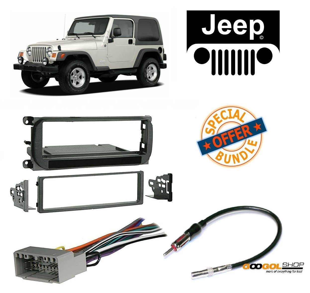 [SCHEMATICS_4NL]  Radio Stereo Install Dash Kit + wire harness And antenna adapter for Jeep  Grand Cherokee (02-04), Liberty (02-07), Wrangler (03-06) - Walmart.com -  Walmart.com | 2004 Jeep Liberty Stereo Wiring Harness |  | Walmart