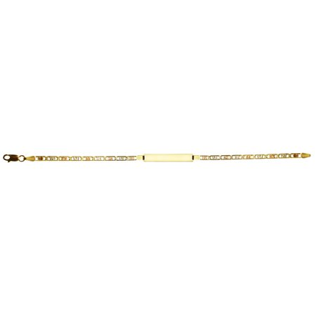 14k Yellow Gold Italy Chain Intricate ID Bracelet