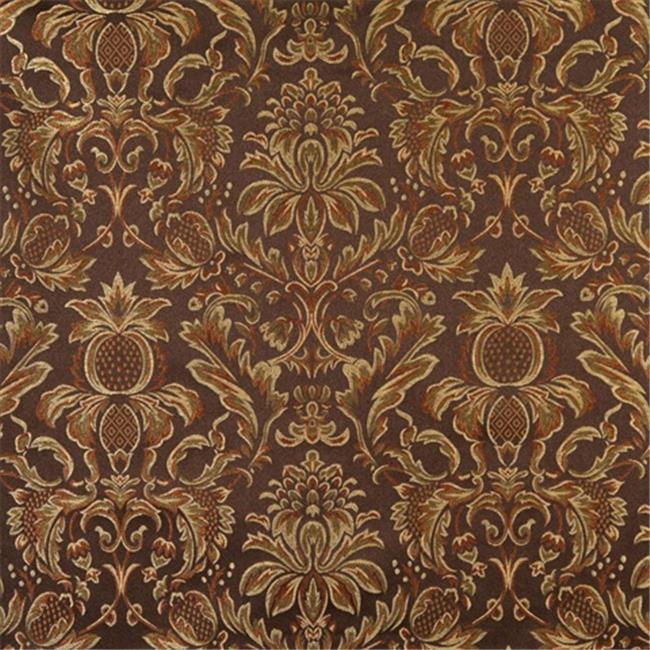 Designer Fabrics F551 54 inch Wide Brown, Bronze, Gold And Ivory, Floral Pineapple Damask Upholstery And Drapery Grade