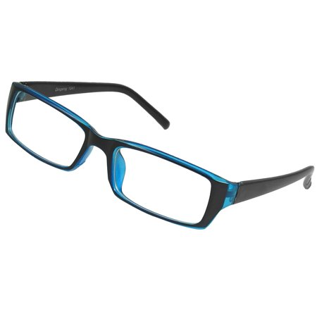 Ladies Blue Frame Glasses : Unique Bargains Ladies Women Single Bridge Plastic Full ...