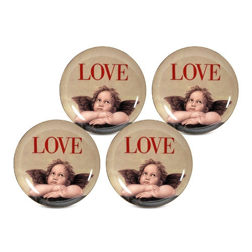 PS Collection Love Cupid 8'' Dessert / Salad Plate (Set of 4)