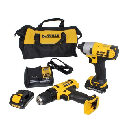DEWALT DCK211S2 12V MAX Cordless Drill/Driver and Impact Driver Combo Kit