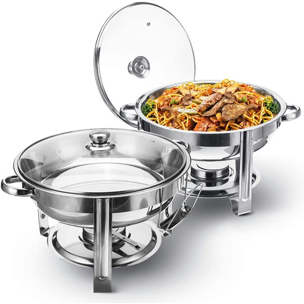 Tooca 4 Quart 2 Pack Chafering Dish, Disposable Buffet Warmers