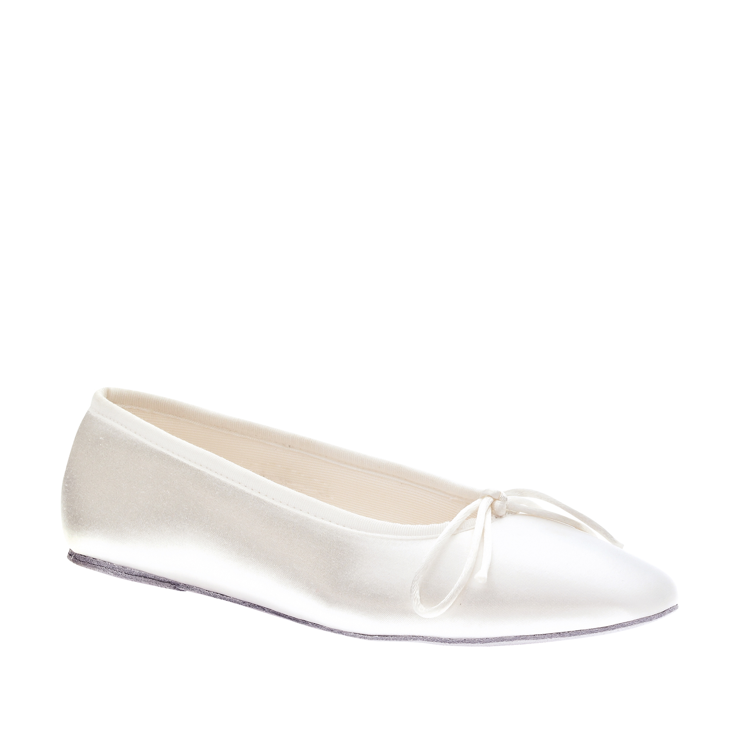 Touch Ups Womens Ballet Flat,White,11.0 W