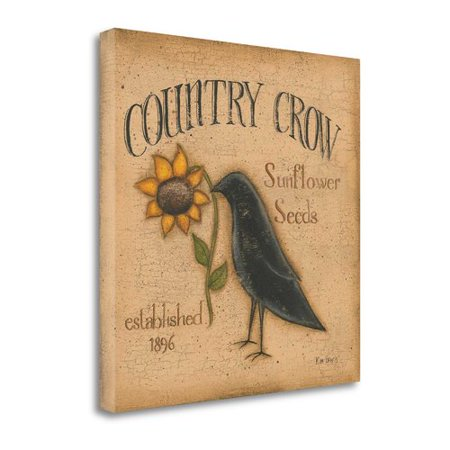 Lewis Gallery - Tangletown Fine Art 'Country Crow' By Kim Lewis Giclee Print on Gallery Wrap Canvas