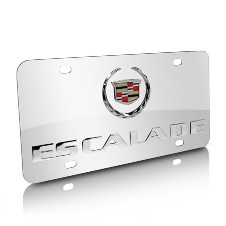Cadillac Escalade Chrome Stainless Steel License Plate