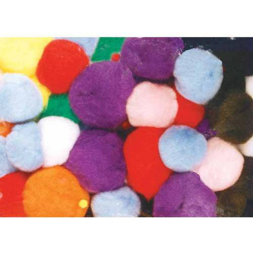 "Chenille Kraft Pom Pons, 1"", Assorted Bright Colors, Pack of 100"