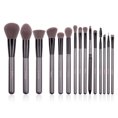 DUcare Makeup Brushes Set 15pcs Synthetic Foundation Contour EyeShadow Powder Blending Cosmetic Tool
