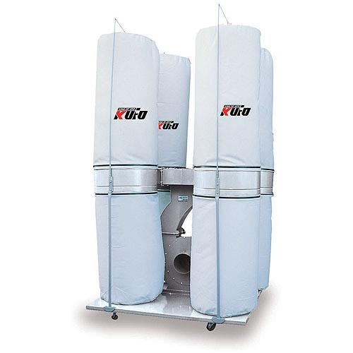 Kufo Seco 10 HP 6,450 CFM 3-Phase 220V/440V Vertical Bag Dust Collector