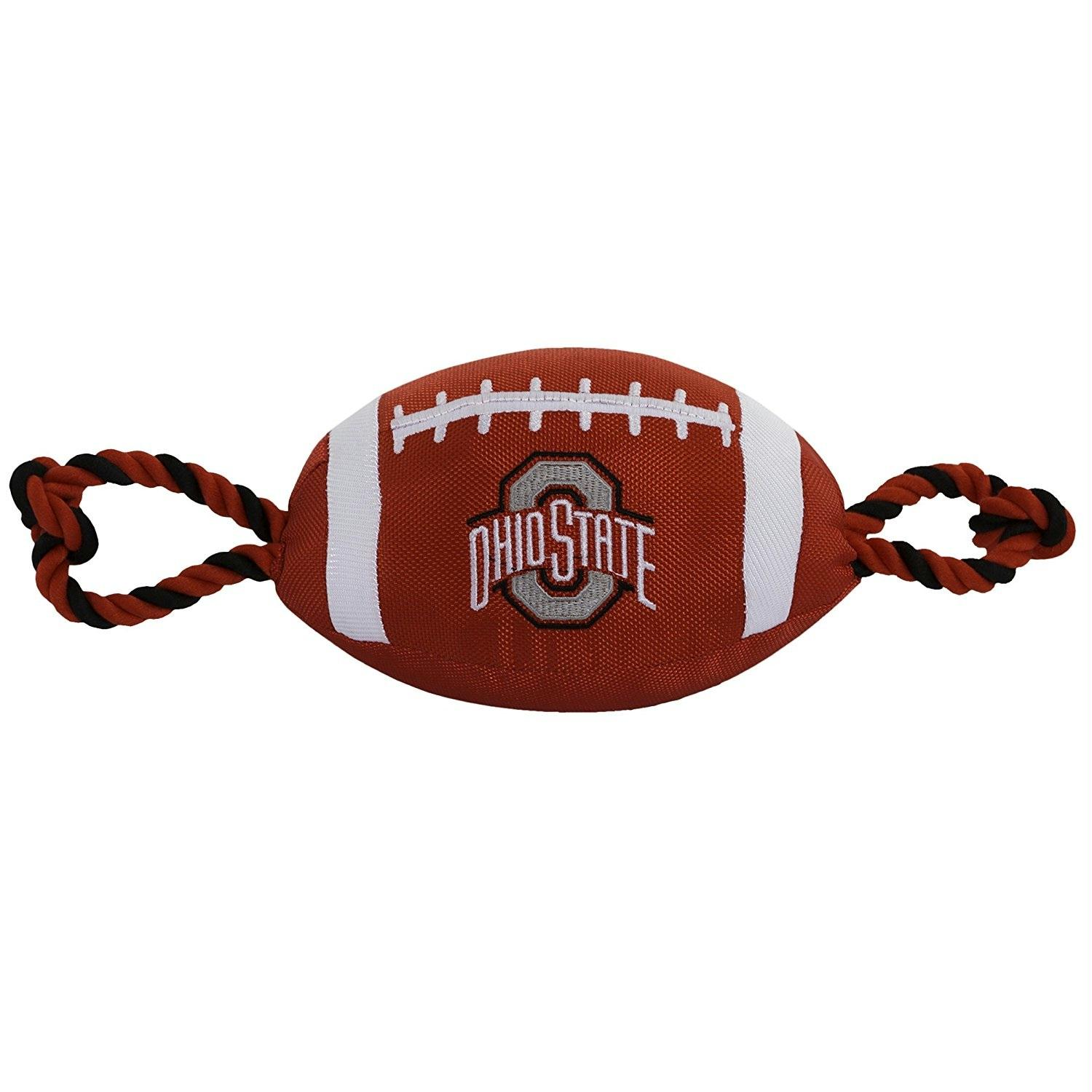 Ohio State Buckeyes Dog Nylon Football Dog Toy
