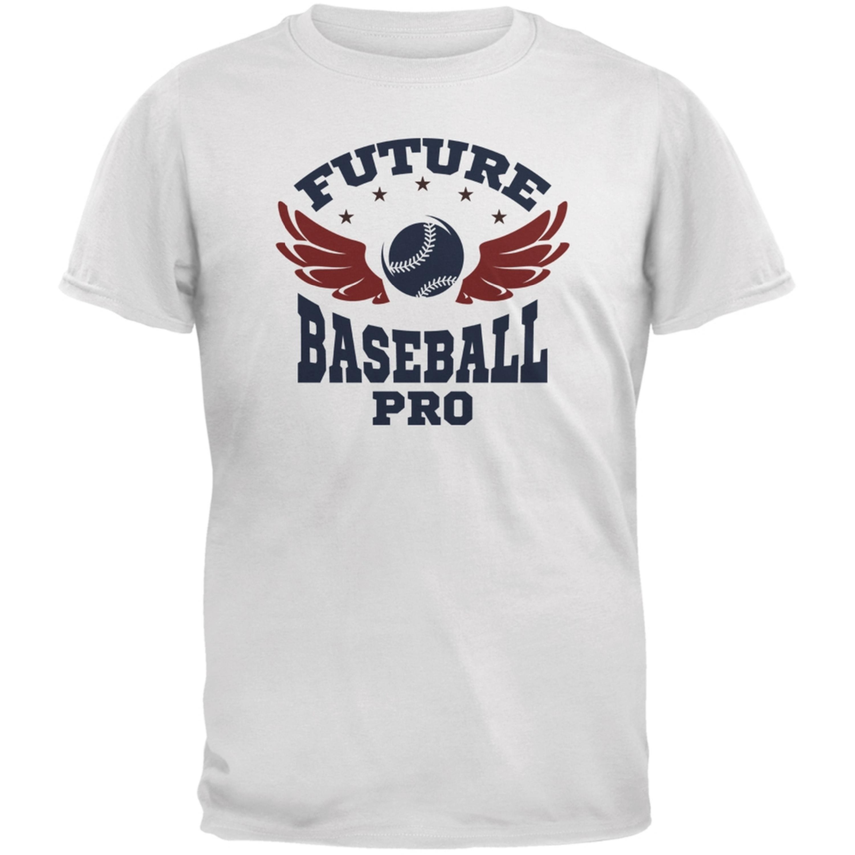 Future Baseball Pro White Youth T-Shirt