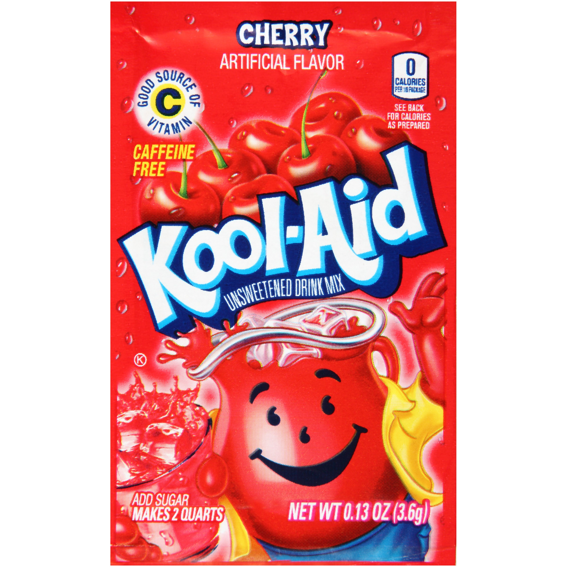 Kool-Aid Cherry Unsweetened Drink Mix 0.13 oz. Packet