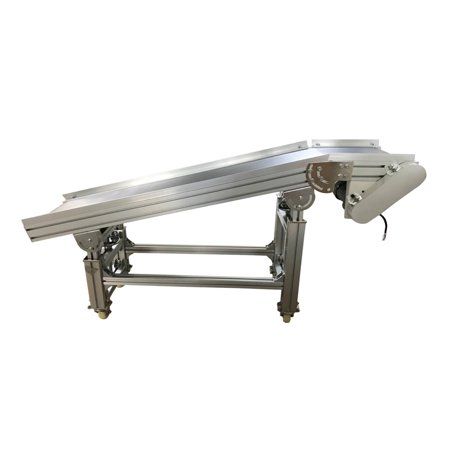 "TECHTONGDA Electric Plane Ramp PVC Flat Conveyor Belt Systems for Industrial Transport 59""*11.8"""