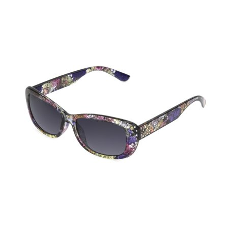 Floral Sunglasses (Foster Grant Women's Floral Rectangle Sunglasses)